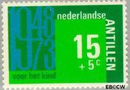 Nederlandse Antillen NA 481  1973 Hulp en zorg 15+5 cent  Gestempeld