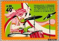 Nederlandse Antillen NA 491  1974 Activiteiten jeugd 40+20 cent  Gestempeld