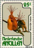 Nederlandse Antillen NA 581  1978 Bloemen 25 cent  Gestempeld