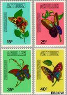 Nederlandse Antillen NA 584#587  1978 Vlinders  cent  Gestempeld