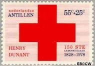 Nederlandse Antillen NA 591  1978 Dunant, Henry 55+25 cent  Gestempeld