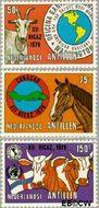 Nederlandse Antillen NA 621#623  1979 Vergadering P.A.H.O.  cent  Gestempeld