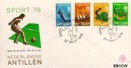 Nederlandse Antillen NA E110  1978 Sport  cent  FDC zonder adres