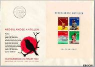 Nederlandse Antillen NA E21  1962 Voorwerpen 25+11 cent  FDC zonder adres