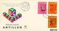 Nederlandse Antillen NA E68  1971 Speelgoed  cent  FDC zonder adres