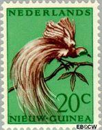 Nieuw-Guinea NG 29  1954 Paradijsvogel 20 cent  Gestempeld