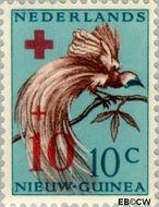 Nieuw-Guinea NG 39  1956 Paradijsvogel 10+10 cent  Gestempeld