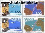POR 1185#1188 Postfris 1972 Eerste vlucht Lisabon-Rio de Janeiro
