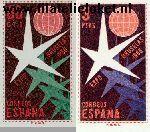 SPA 1119#1120 Postfris 1958 Wereldtentoonstelling Brussel
