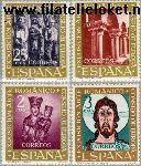 SPA 1260#1263 Postfris 1961 Romeinse kunst