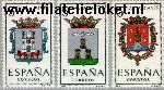 SPA 1301#1303 Postfris 1962 Provinciewapens