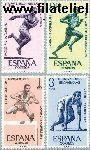 SPA 1342#1345 Postfris 1962 Athletiek