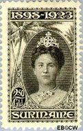 Suriname SU 109  1923 Regeringsjubileum Wilhelmina 1898-1923 250 cent  Gestempeld