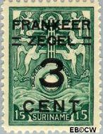 Suriname SU 130  1927 Opruimingsuitgifte 3 op 15 cent  Gestempeld