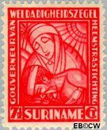 Suriname SU 140  1928 Van Heemstra stichting 7½+2½ cent  Gestempeld