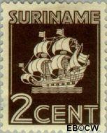 Suriname SU 160  1936 Scheepje 2 cent  Gestempeld