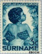 Suriname SU 180  1936 Kinderen 3+1½ cent  Gestempeld
