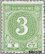 Suriname SU 19  1890 Drukwerkzegel 3 cent  Gestempeld