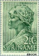 Suriname SU 190  1940 Leprabestrijding 2½+2 cent  Gestempeld