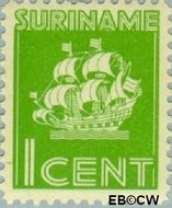 Suriname SU 200  1941 Scheepje 1 cent  Gestempeld