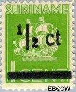 Suriname SU 210  1945 Scheepje ½ op 1 cent  Gestempeld