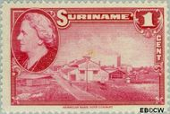 Suriname SU 220  1945 Wilhelmina en landschappen 1 cent  Gestempeld