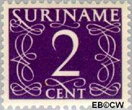 Suriname SU 251  1948 Cijferzegels 2 cent  Gestempeld