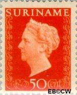 Suriname SU 271  1948 Koningin Wilhelmina 50 cent  Gestempeld