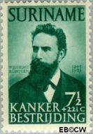 Suriname SU 281  1950 Kankerbestrijding 7½+22½ cent  Gestempeld