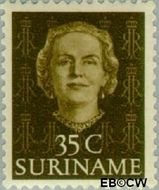 Suriname SU 291  1951 Type 'En Profile' 35 cent  Gestempeld