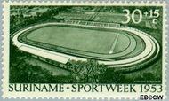 Suriname SU 311  1953 Opening stadion Paramaribo 30+15 cent  Gestempeld