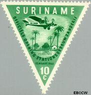 Suriname SU 341  1960 Opening luchthaven Zanderij 10 cent  Gestempeld