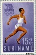Suriname SU 351  1960 Olympisch Comité 15+7 cent  Gestempeld