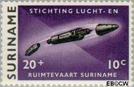 Suriname SU 409  1964 Stichting Lucht- en Ruimtevaart 20+10 cent  Gestempeld