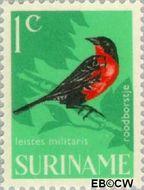 Suriname SU 439  1966 Vogels 1 cent  Gestempeld