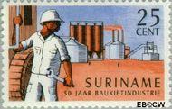 Suriname SU 469  1966 Bauxietindustrie 25 cent  Gestempeld