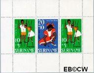 Suriname SU 489  1967 Kinderspelen  cent  Gestempeld