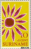 Suriname SU 529  1970 Symbolen 10+5 cent  Gestempeld