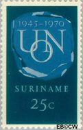 Suriname SU 539  1970 U.N.O. 25 cent  Gestempeld