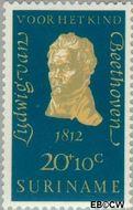 Suriname SU 549  1970 Componisten 20+10 cent  Gestempeld