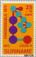 Suriname SU 589  1972 Onderwijs 25+12 cent  Gestempeld