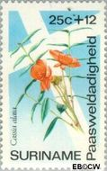 Suriname SU 619  1974 Bloemen 25+12 cent  Gestempeld