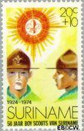 Suriname SU 629  1974 Padvinderij in Suriname 20+10 cent  Gestempeld
