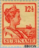 Suriname SU 89  1915 Scheepjes-type 12½ cent  Gestempeld