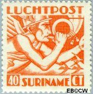Suriname SU LP16  1941 Mercurius 40 cent  Gestempeld