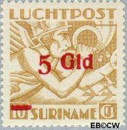 Suriname SU LP26  1945 Opdruk 500 op 1000 cent  Gestempeld
