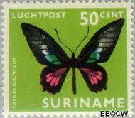 Suriname SU LP54  1972 Vlinders 50 cent  Gestempeld