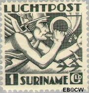 Suriname SU LP6  1930 Mercurius 100 cent  Gestempeld