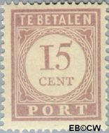 Suriname SU PT25  1913 Port 15 cent  Gestempeld