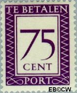Suriname SU PT45  1950 Port 75 cent  Gestempeld
